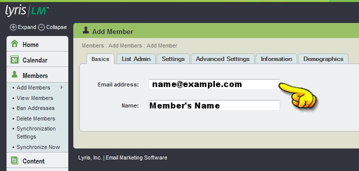 add member screen