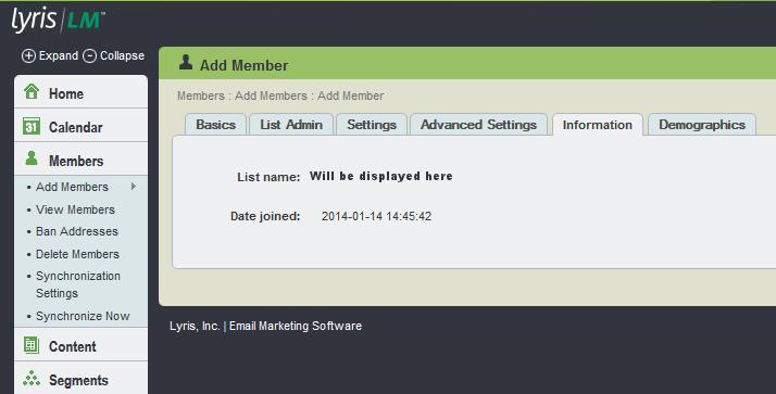 add members info tab