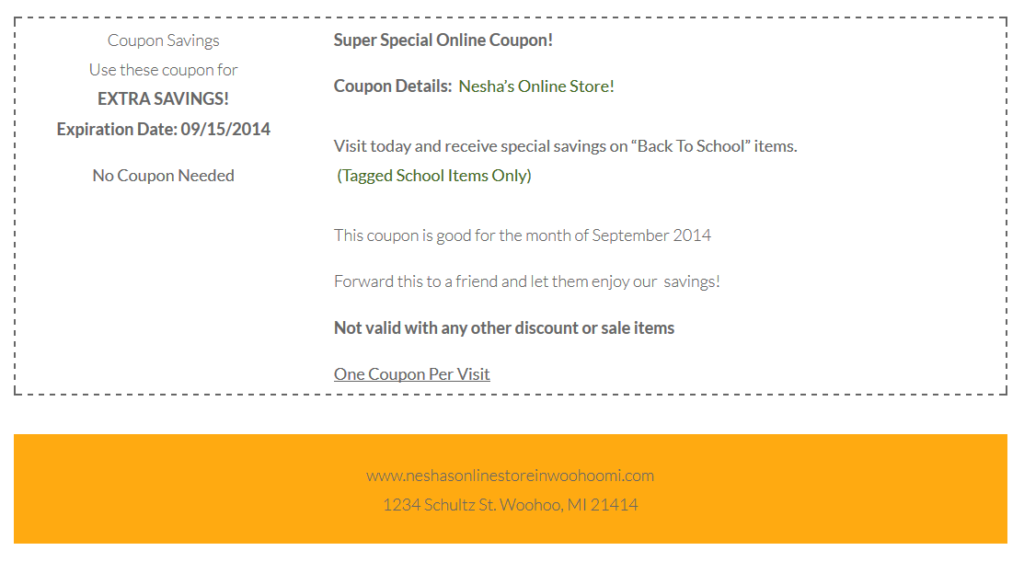 2014 back to school coupon
