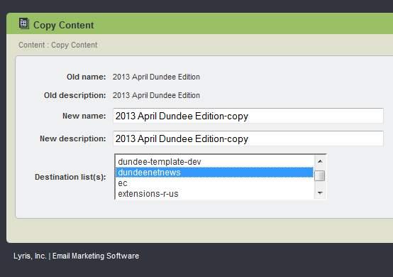 copy content menu