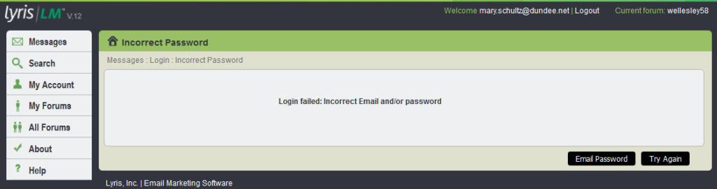 forgot password prompt