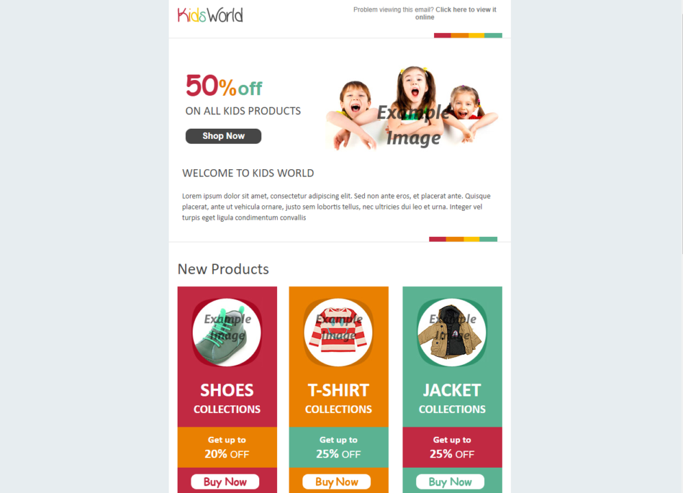 kids clothing template