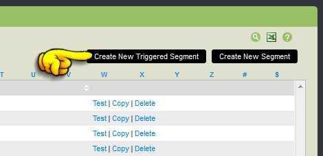 create new triggered segments