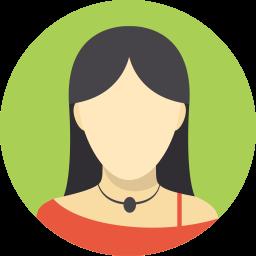 black hair female avatar